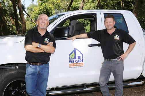 we care pest solutions owners warren and sean